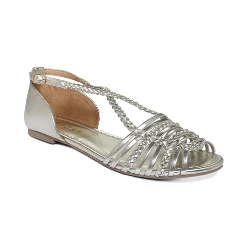 Report Silver Cristina Flat Sandals-REPORT-Fashionbarn shop