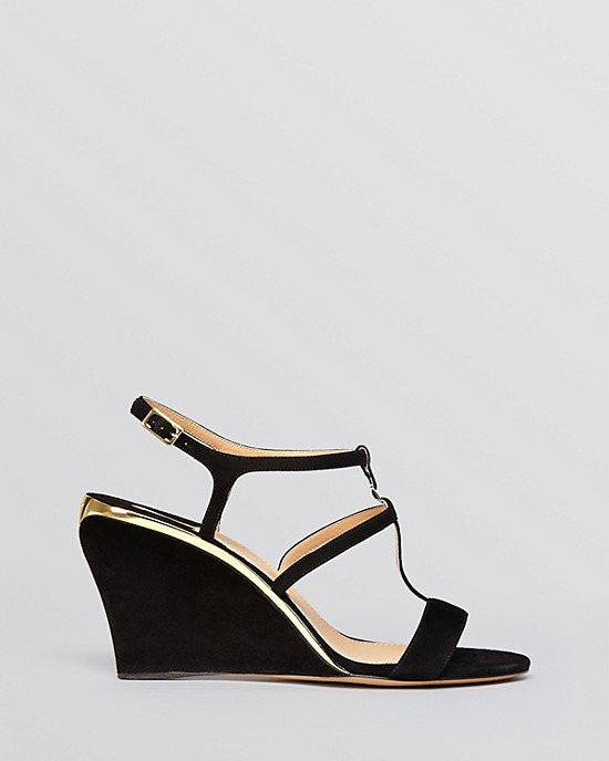 Salvatore Ferragamo Open Toe Wedge Sandals - Pakuna-SALVATORE FERRAGAMO-Fashionbarn shop