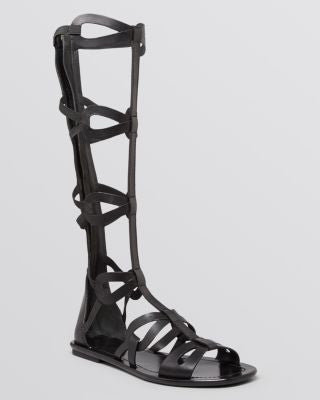 VIA SPIGA Flat Gladiator Sandals - Destin Knee High-VIA SPIGA-Fashionbarn shop