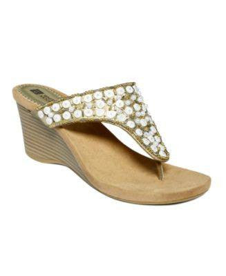 WHITE MOUNTAIN-NICHE WEDGE SANDALS-WHITE MOUNTAIN-Fashionbarn shop