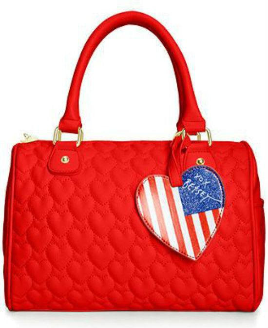 Betsey Johnson Quilted Hearts Satchel-BETSEY JOHNSON-Fashionbarn shop