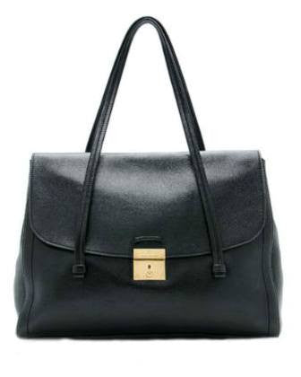 MARC JACOBS '1984' Lullaby Leather Satchel Black-MARC BY MARC JACOBS-Fashionbarn shop