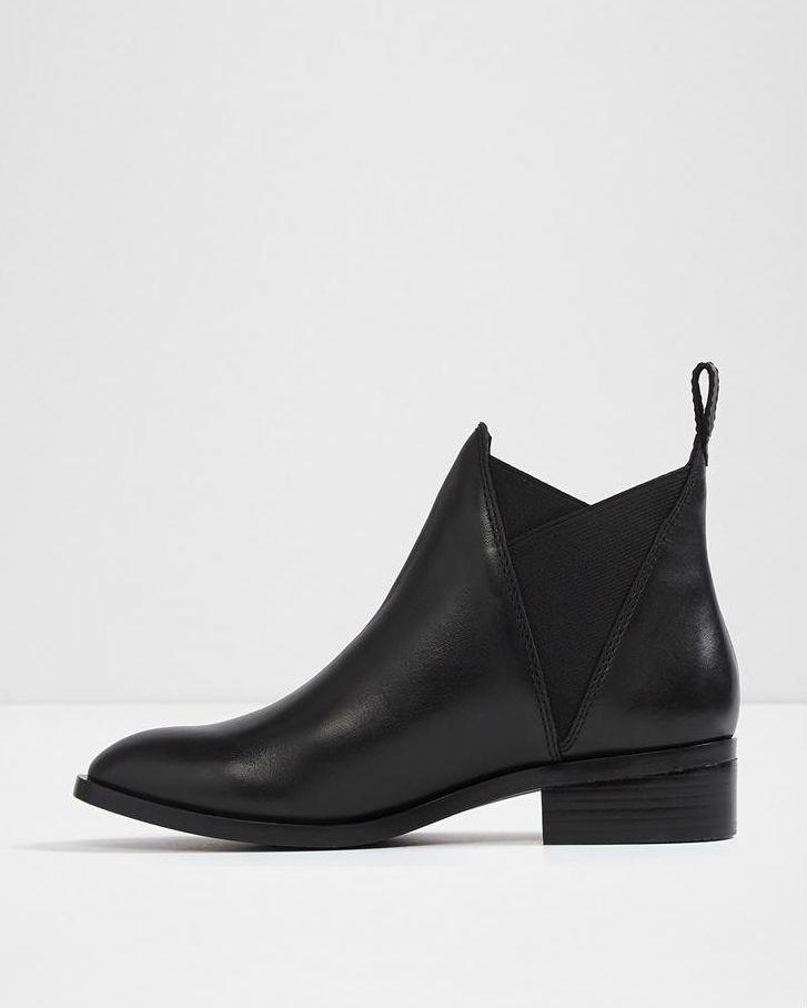 ALDO Black Scotch Chelsea Ankle Booties