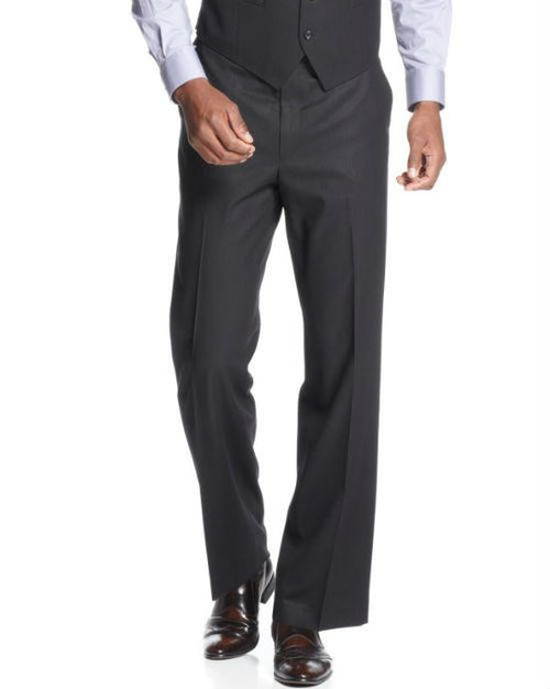 Sean John Black Tonal Stripe Pants-SEAN JOHN-Fashionbarn shop