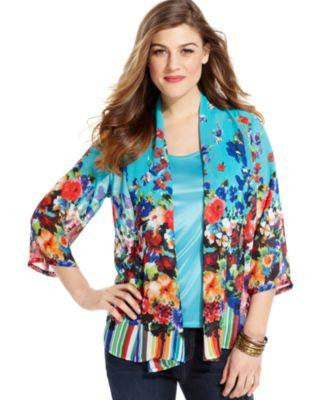 ELEMENTZ CARDIGAN, THREE-QUARTER-SLEEVE LETICIA XL-ELEMENTZ-Fashionbarn shop
