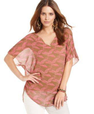 RACHEL RACHEL ROY THE AVANI V-NECK SHORT-SLEEVE HAZEL COMBO M-RACHEL ROY-Fashionbarn shop