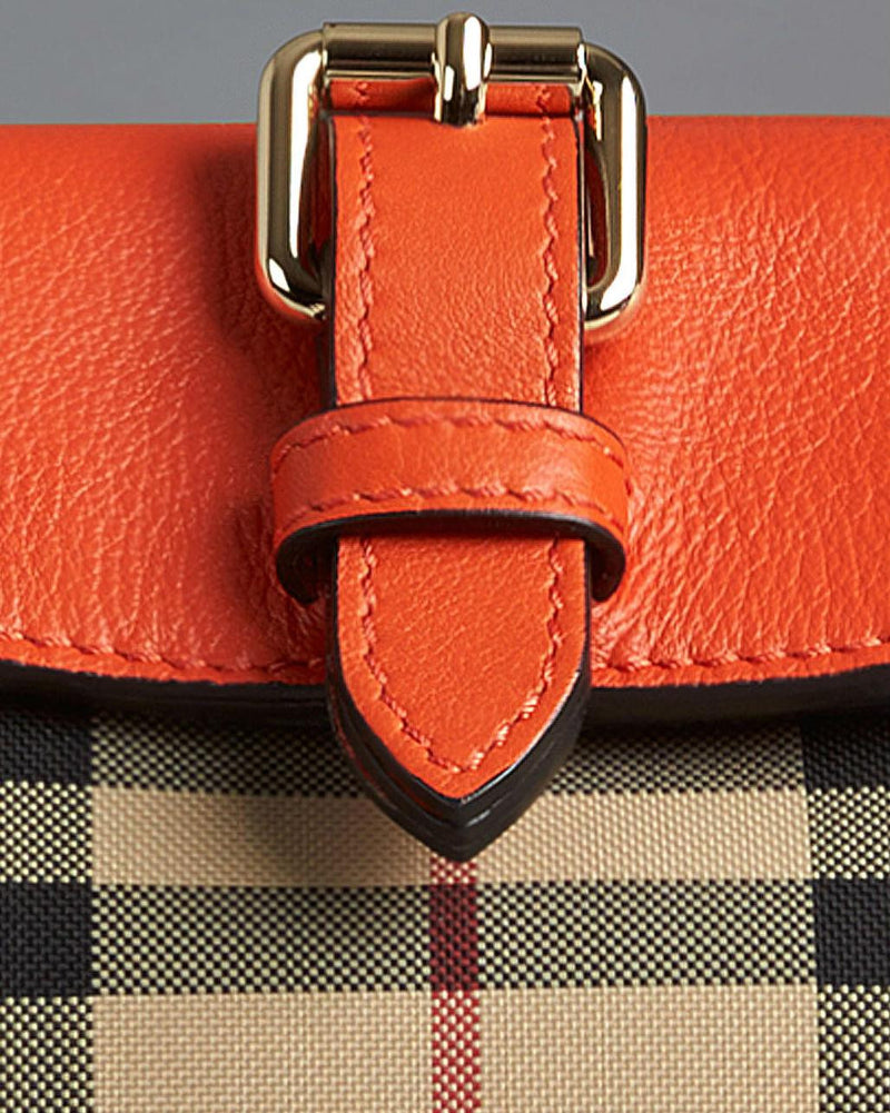 BURBERRY SMALL HORSEFERRY CHECK CLUTCH BAG-BURBERRY-Fashionbarn shop