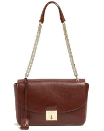MARC JACOBS '1984 Polly' Leather Shoulder Bag Chestnut-MARC BY MARC JACOBS-Fashionbarn shop