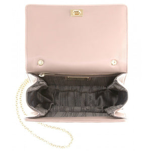 SALVATORE FERRAGAMO Black Ginny Leather Shoulder Bag-SALVATORE FERRAGAMO-Fashionbarn shop