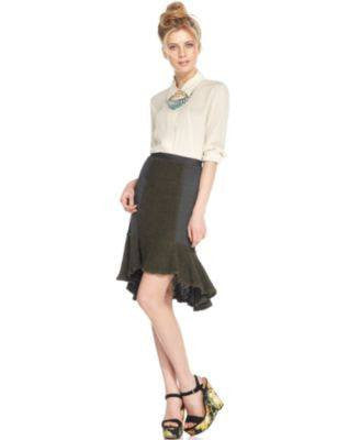 BAR III TRUMPET PENCIL SKIRT-BAR III-Fashionbarn shop