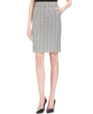 ELEMENTZ SKIRT, SLIM PENCIL PLAID FREETOWN L-ELEMENTZ-Fashionbarn shop