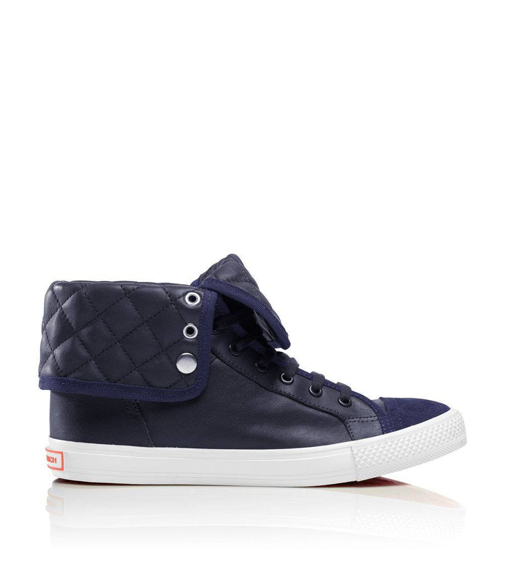 Tory Burch Blue Caspe High Top Sneaker-TORY BURCH-Fashionbarn shop