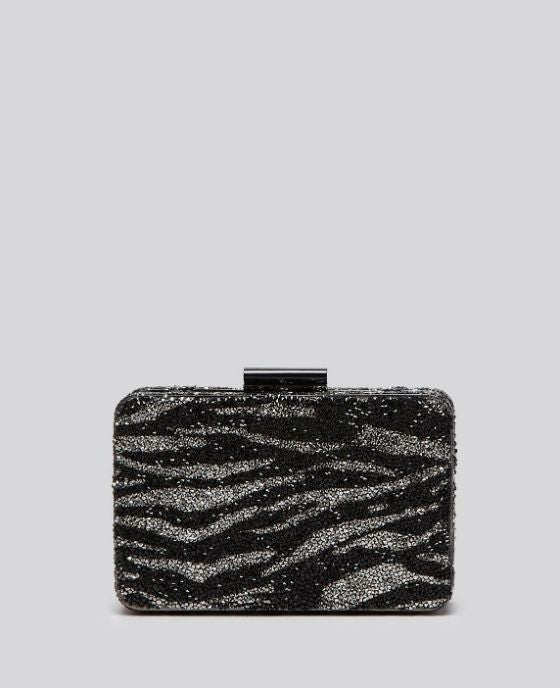 Sondra Roberts Women's Black Clutch - Stone Box Zebra - Fashionbarn shop - 1