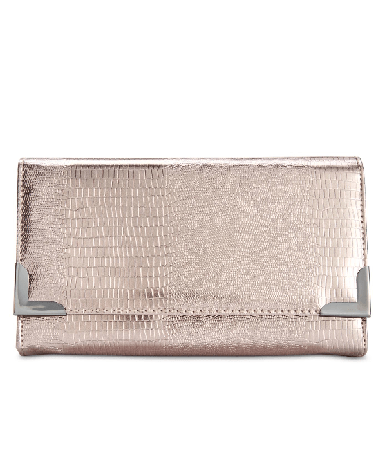 Style Co. Exotic Diane Clutch Pewter - Fashionbarn shop
