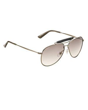 Gucci 2235S 1JF Chocolate Aviator Sunglasses-GUCCI-Fashionbarn shop