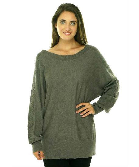 Alfani Ribbed Panel Dolman Sweater-ALFANI-Fashionbarn shop