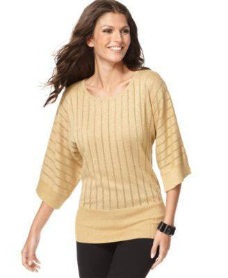CABLE & GAUGE SWEATER KIMONO SLEEVE-CABLE & GAUGE-Fashionbarn shop