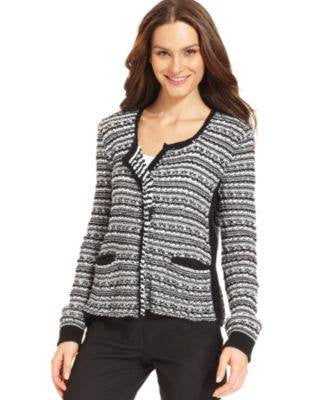 GRACE ELEMENTS SWEATER LONG-SLEEVE CARDIGAN-GRACE ELEMENTS-Fashionbarn shop