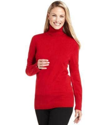 JM COLLECTION SWEATER, LONG-SLEEVE TURTLENEC SUEDE L-JM COLLECTION-Fashionbarn shop