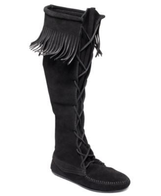 MINNETONKA TALL BOOTS-MINNETONKA MOCCASIN-Fashionbarn shop