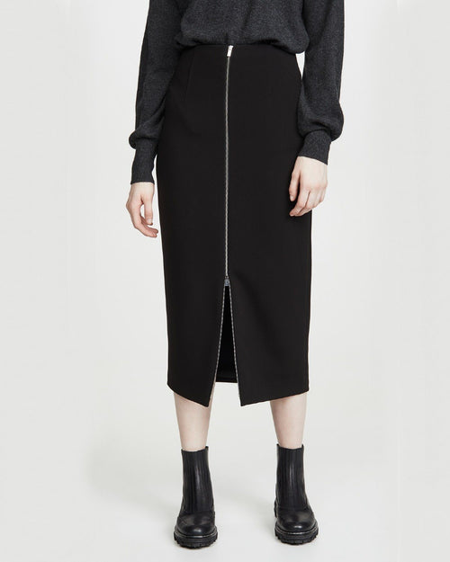 Theory High Waist Zip Skirt