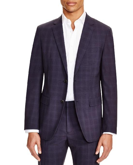 Theory Men's Tonal Plaid Slim Fit Sport Coat