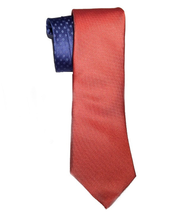 Perry Ellis Portfolio Jewel Solid Silk Tie Coral-PERRY ELLIS-Fashionbarn shop