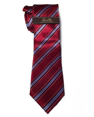 Tasso Elba Tie Red and Blue Striped 100% Silk Men's Classic Tie-Tasso Elba-Fashionbarn shop