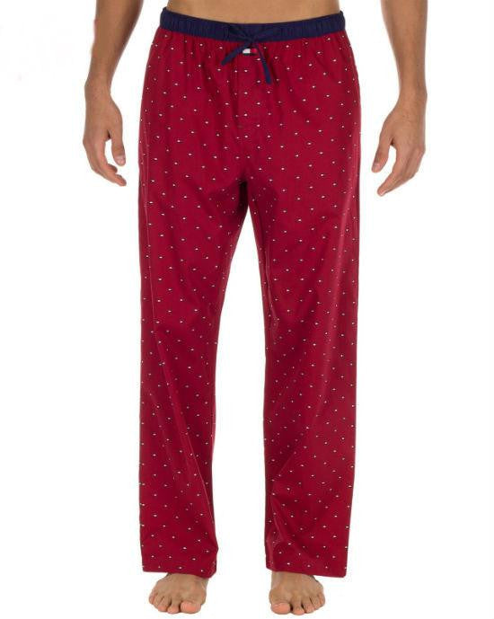 Tommy Hilfiger Men's Flag Print Woven Pajama Bottoms-TOMMY HILFIGER-Fashionbarn shop