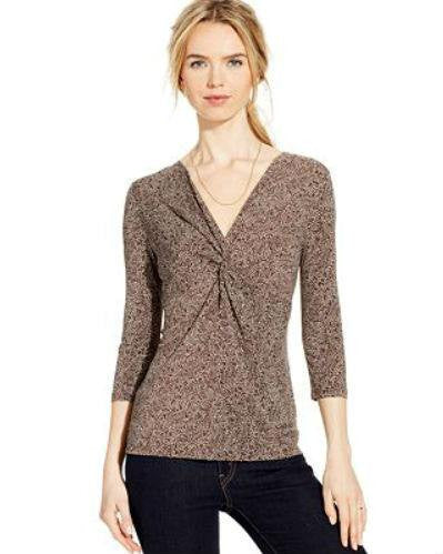 Charter Club Dot-Print Twist-Front Top-CHARTER CLUB-Fashionbarn shop