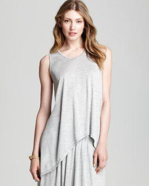 EILEEN FISHER DARK SOFT V-NECK SHELL-EILEEN FISHER-Fashionbarn shop