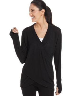 IDEOLOGY TOP LONG-SLEEVE CRISSCROSS-IDEOLOGY-Fashionbarn shop