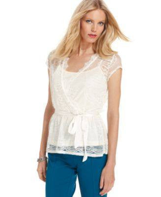 NY COLLECTION PETITE TOP CAP-SLEEVE - Fashionbarn shop