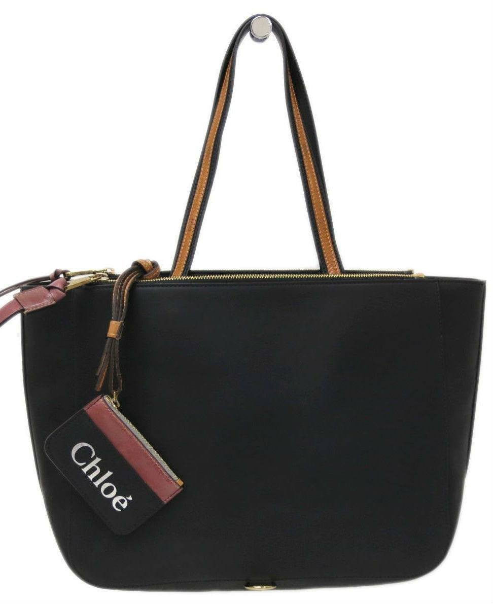 CHLOE Faux-Leather Tote Bag-CHLOE-Fashionbarn shop