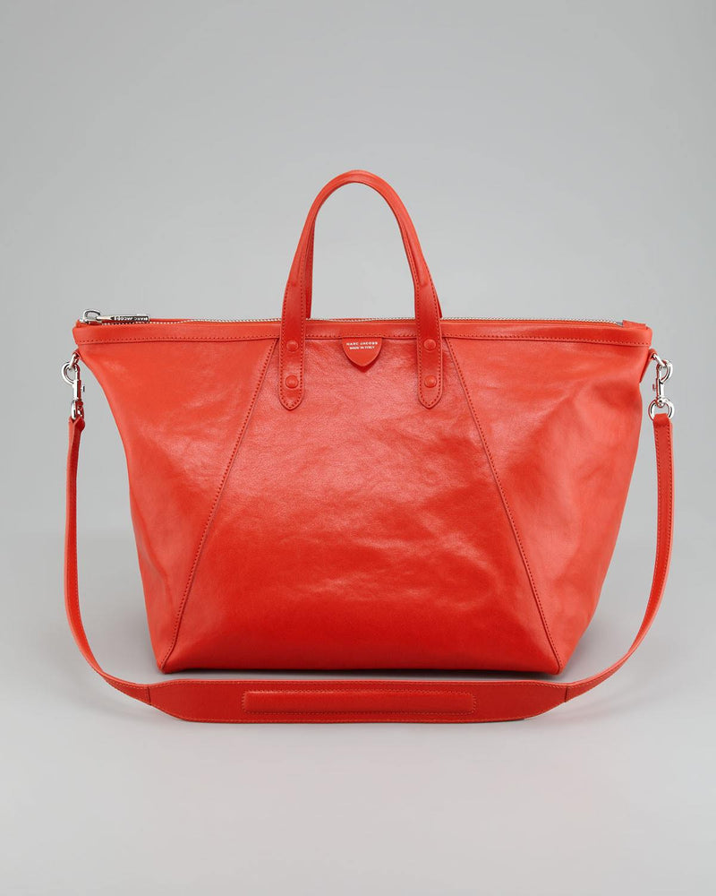 MARC JACOBS SHEILA LEATHER TOTE, CORAL-MARC JACOBS-Fashionbarn shop