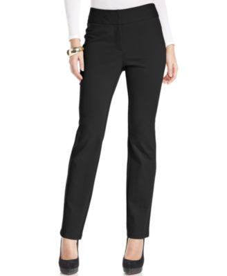GRACE ELEMENTS STRAIGHT-LEG PONTE-KNIT TROUSERS-GRACE ELEMENTS-Fashionbarn shop