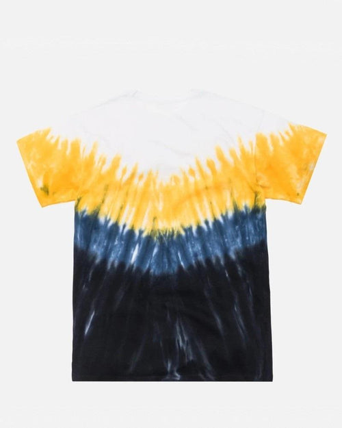 Kith Summer Tie Dye Tee Blue/Yellow