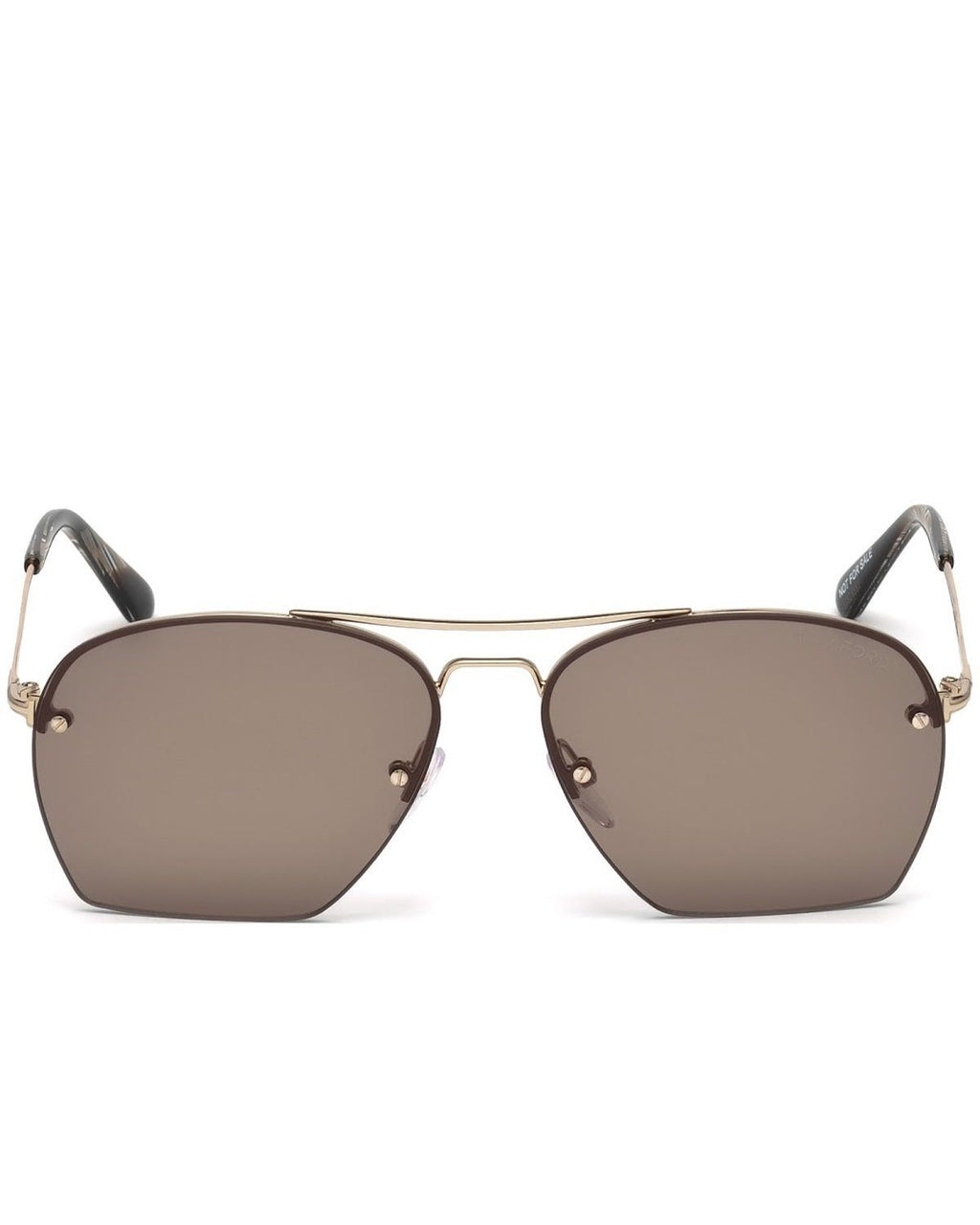 Tom Ford Women's FT0505 28E Whelan Square Gold / Brown Sunglasses