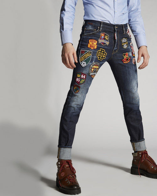 Dsquared2 College Patch Wash Cool Guy Jeans