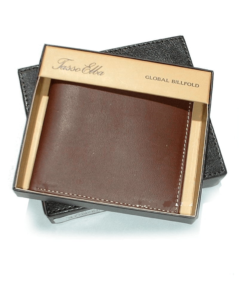 Tasso Elba Men's Brown Global Billfold Leather Wallet-Tasso Elba-Fashionbarn shop