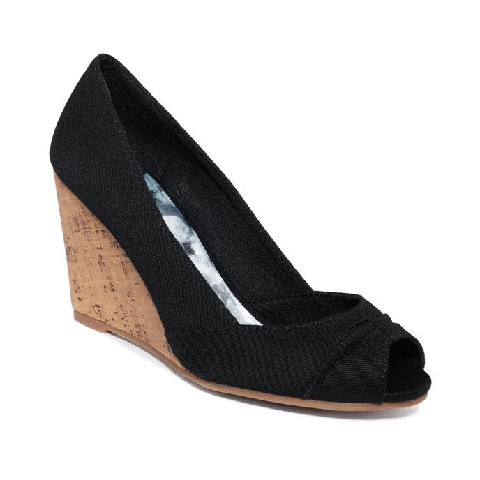 Rampage Black Kayson Wedges-RAMPAGE-Fashionbarn shop