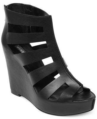 BCBGeneration Torrez Caged Platform Wedge Sandals-BCBG-Fashionbarn shop
