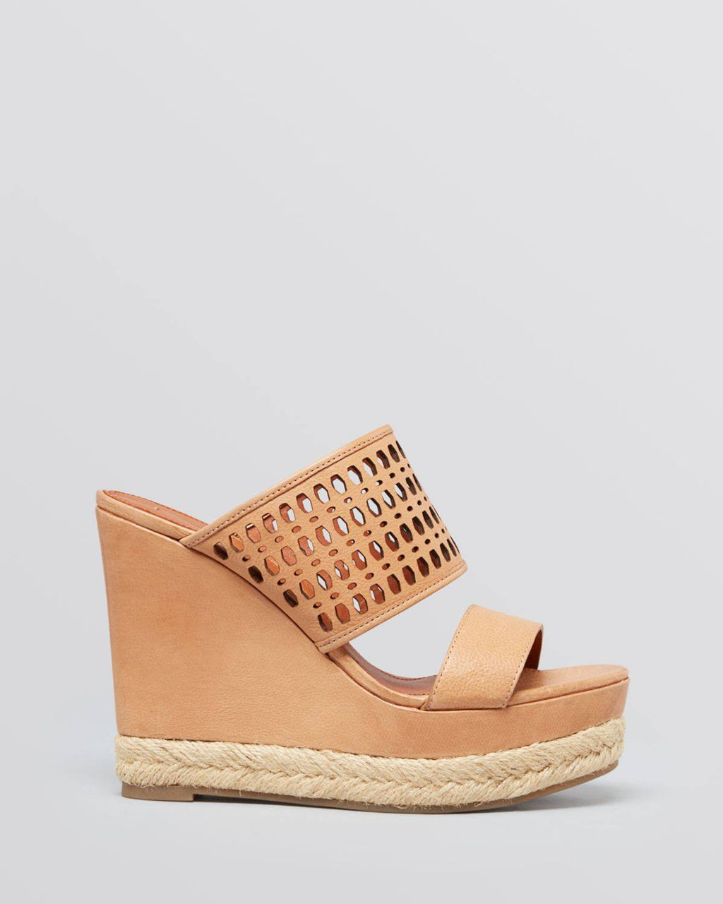 VIA SPIGA Beige Platform Wedge Sandals Marisol-VIA SPIGA-Fashionbarn shop