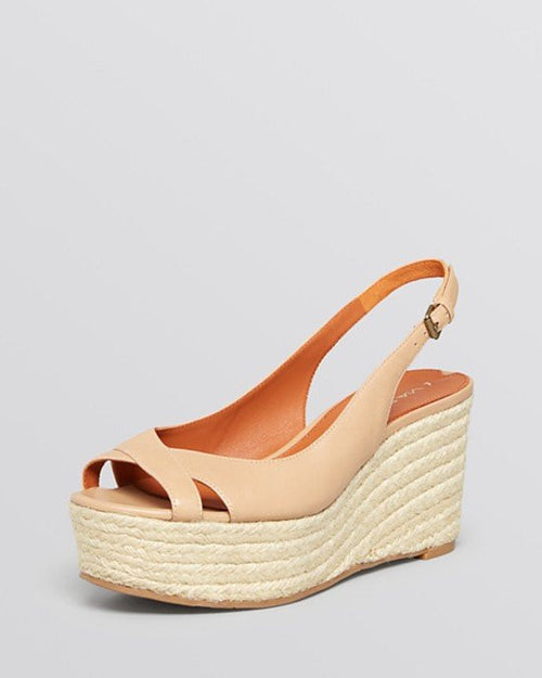 Via Spiga Open Toe Platform Wedge Espadrille Sandals - Luciana-VIA SPIGA-Fashionbarn shop