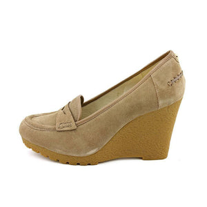 Michael Kors Rory Loafer Suede Wedges Pumps-MICHAEL MICHAEL KORS-Fashionbarn shop