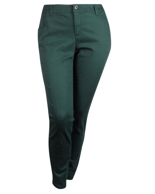 INC Nocturnal Green Women's Plus Slim Tech Fit Skinny Jeans-INC-Fashionbarn shop