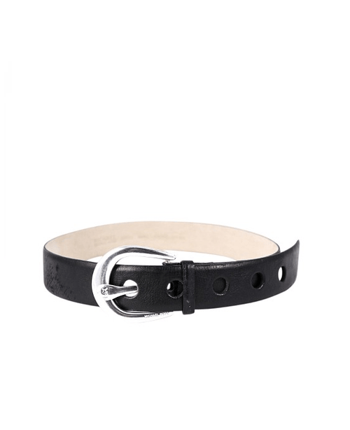 Michael Kors black contour horseshoe Buckle belt - Fashionbarn shop