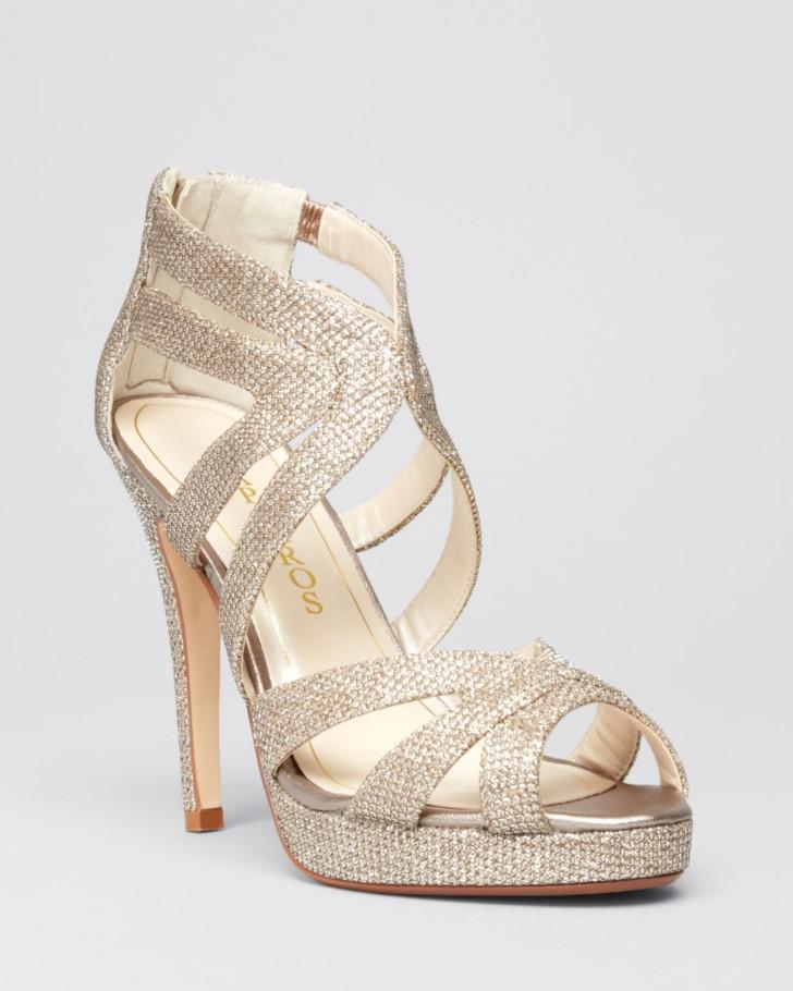 Caparros Platform Evening Sandals - Priscilla High-Heel