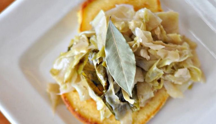 Braised Cabbage & Johnny Cakes