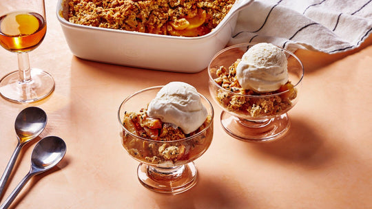 Sesame Oat Apple Crisp